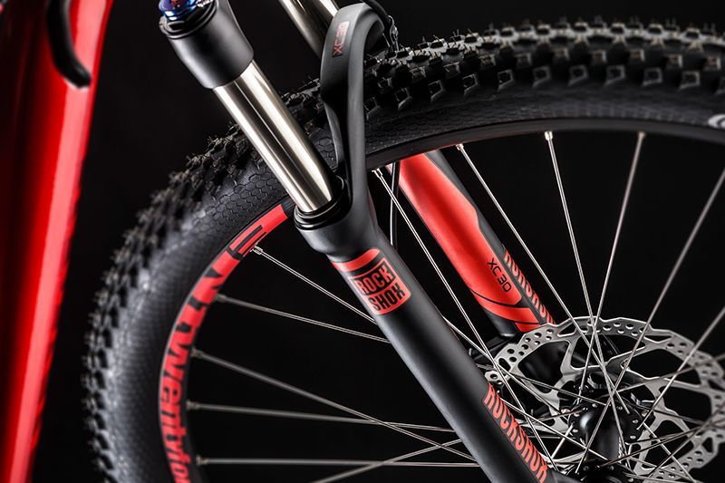 Rent a Canyon Yellowstone Mountain Bike in Barcelona with Rock Shox Suspension fork